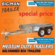 10x6 NO CAGE ♧ TANDEM Axle BRAKED BOX TRAILER GALVANISED 2000KG Moorabbin Kingston Area Preview