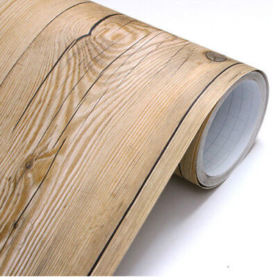 Vintage Wood Panel Vinyl Self Adhesive Peel-Stick Contact Paper