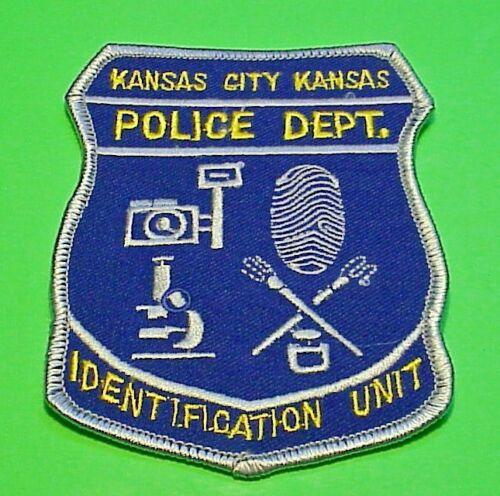 "KANSAS CITY KANSAS KS IDENTIFICATION UNIT 4 1/4""  POLICE PATCH  FREE SHIPPING!!"