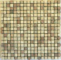 Rosone Rosoni Incollati Su Rete Piastrelle In Marmo 30x30 Con Tessere 1,4x1,4mix -  - ebay.it