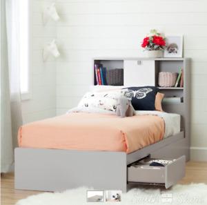 Base de lit simple et tête de lit pour enfant