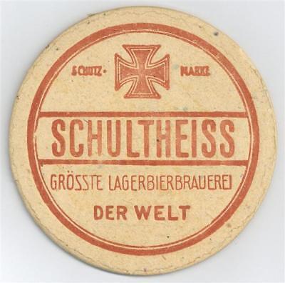 52605436 - Bierdeckel Schultheiss postalisch gelaufen 1916