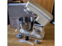 ElectriQ 1500W 5.2L Pro Electric Food Stand Mixer & Splash Guard in Cream
