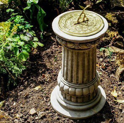 Victorian Style Sundial & Column - Highly Decorative Heavy by DGS Statues 26KGS