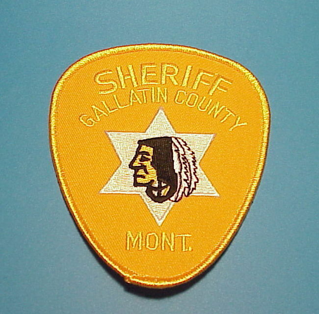 GALLATIN COUNTY  MONTANA ( INDIAN ) SHERIFF/ POLICE DEPT. PATCH  FREE SHIPPING!!