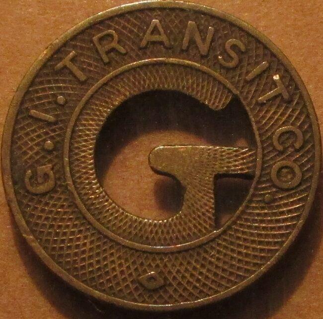 1946 G.I. Transit Co. Grand Island, NE Transit Bus Token - Nebraska Nebr.