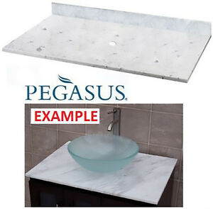 NEW MARBLE VESSEL VANITY TOP 37""