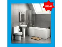 P Shaped bathroom suite