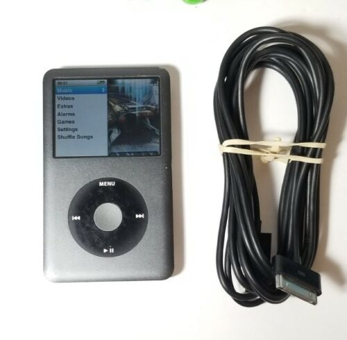 Apple iPod Classic 7th Generation Black A1238 (MB565LL) 120GB Tested w/ Charger