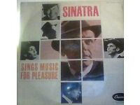 frank sinatra,vinyl record,lp,sings music for pleasure.