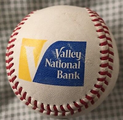 Valley National Bank Baden Official Leather Promotion Advertising Baseball Promo