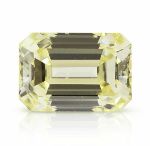 0.92 Ct Fancy Light Yellow VS2 GIA Certified Loose Diamond Natural Color Emerald