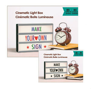 Brand New Cinematic Marquee Light Box Included USB Adaptor
