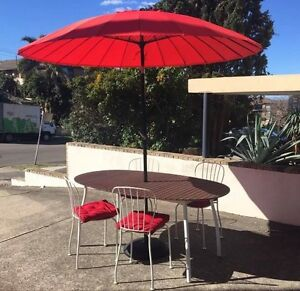 Red outdoor umbrella and base Waverley Eastern Suburbs Preview