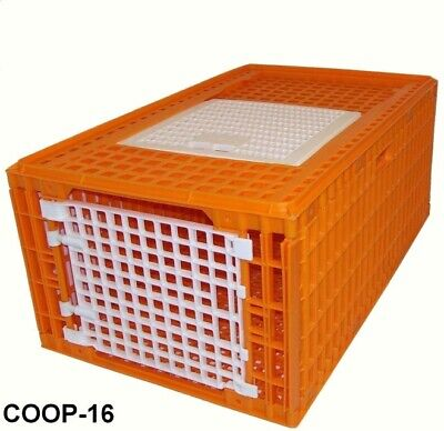 2 Pack - Turkey Transport Crates Bird Duck Cage 38.5lx23wx16h Durable Coop-16