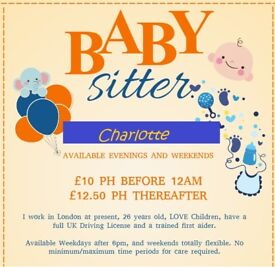 BABYSITTING AVAILABLE LOCAL TO LEIGH ON SEA ESSEX