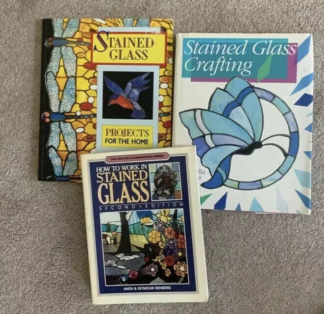 Lot Of 3, Stained Glass Beginner Instruction Books, Pre-owned