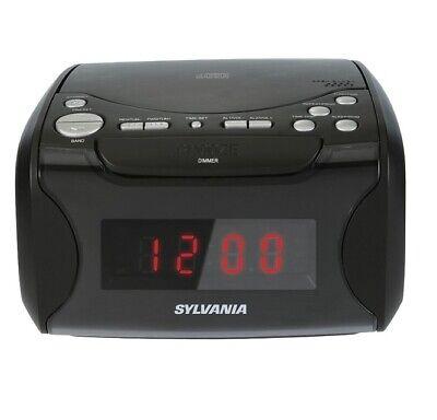 SYLVANIA Alarm Clock Radio with CD Player and USB Charging (SCR4986) - NEW™