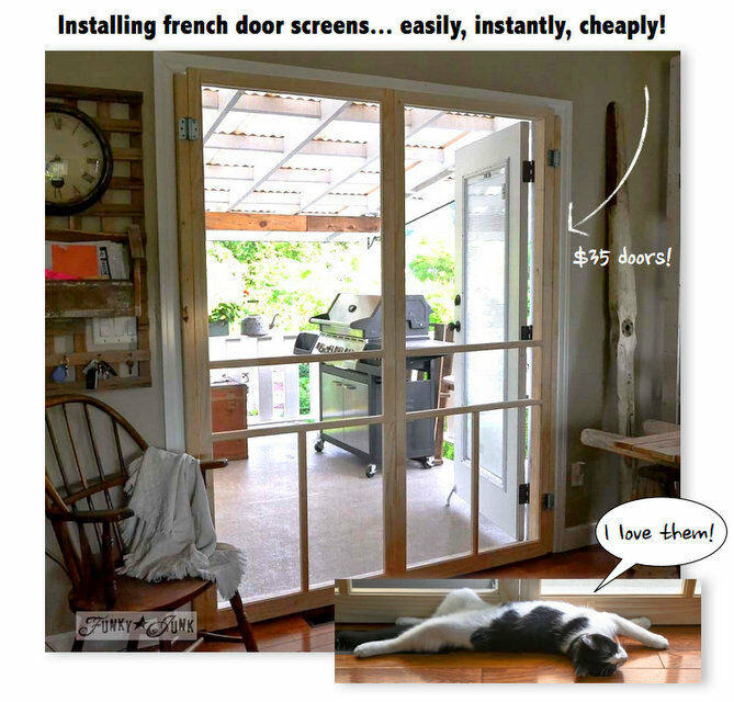 How To Build A Cheap Screen For Door French Doors Ebay