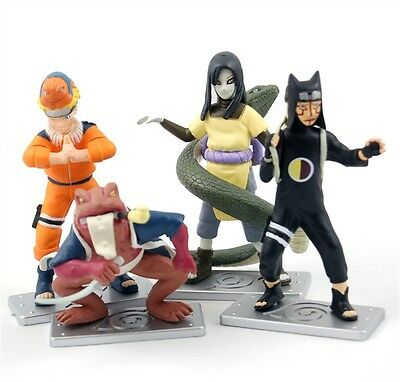 Naruto anime red frog figures set of 4pcs collection toys NEW arrivel