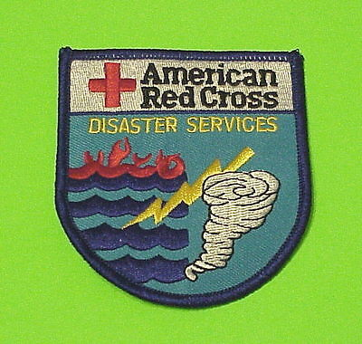 American Red Cross Disaster Services   Tornado   Flood    Patch  Free Shipping