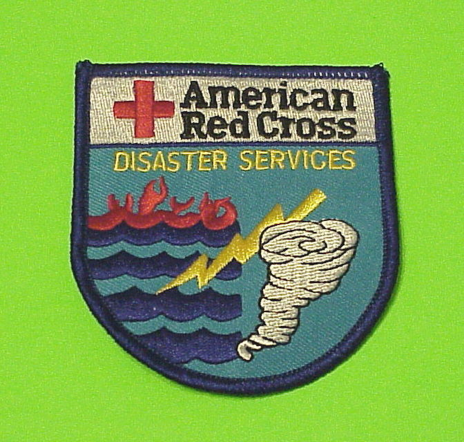 AMERICAN RED CROSS DISASTER SERVICES ( TORNADO / FLOOD )  PATCH  FREE SHIPPING!!