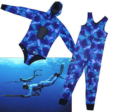 5mm Neoprene 2 pieces Hood Jacket John Diving Ocean Camouflage wetsuit L (56)