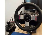 G27 Steering Wheel, gears and pedals