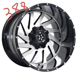 NEW 24 INCH RIMS 24X12 -24 OFFSET 5 BOLT ONLY $2090 FOR SET