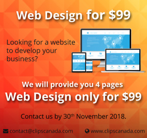 Web Design for $99 Only