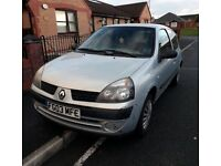 Low mileage 2003 1.2 Renault Clio taken in PX cheap tax & insurance/excellent 48+ MPG/12m MOT!! £425