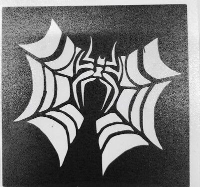 5 Spider Webbing Halloween stencils top up ur glitter tattoo kit facepainting](Halloween Face Painting Spider Web)