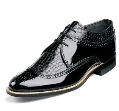 Stacy Adams Zapatos Hombre de Vestir Dayton Clásico Negro Punta Ala Oxford...