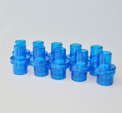 100 Pcs 22mm Mouthpiece Resuscitator Pocket Cpr Mask One-way Valve Oxygen Inlet