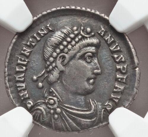 364-375 AD Western Roman Empire Valentinian I AR siliqua NGC VF 5/5 3/5