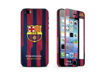 Top Europe Football Club Logo Tempered Glass Front+back And Full Body Cover Skin For iPhone 5/5s/5SE