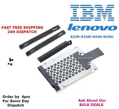 IBM.Lenovo.X220.X220i.X230.X230i.HDD.Hard Drive Cover.Caddy.Screws..FULL KIT.NEW