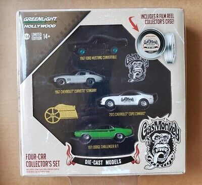 Greenlight Hollywood - Gas Monkey Garage 4-Car 1:64 Diecast Collector's Set