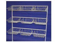 COMMERCIAL HEAVYDUTY BASKET STAND SHOP DISPLAY SHOPFITTINGS 1.4M Wide x 1.56M High *** RRP £124.99