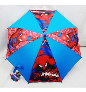 NWT Amazing Spiderman Kids Umbrella Spider Sense Authentic Licensed Goods