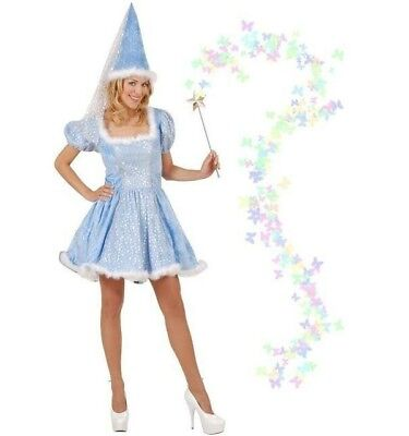 Kostüm Sternenfee Fee blau Gr. M Erwachsene Karneval Fasching Neu