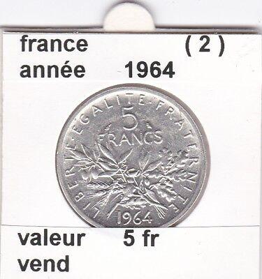 BF 1 )pieces de 5 franc  france  1964   ( 2 ) &
