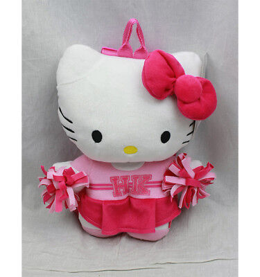 Hello Kitty Cheerleader Plush Backpack, NEW for Kids Girls Sanrio Pink (Hello Kitty Backpacks For Girls)