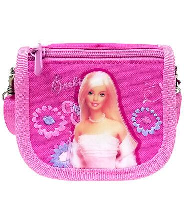 Mattel Barbie Pink Flowers Girls String Wallet/Purse/Cross Shoulder Bag for Kids - Bags For Kids