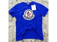 MONCLER t-shirt electric blue XL size NEW!