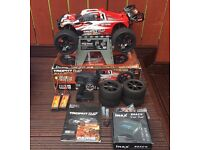 HPI TROPHY FLUX TRUGGY 1/8th Scale RTR, with upgrades and extras. RC