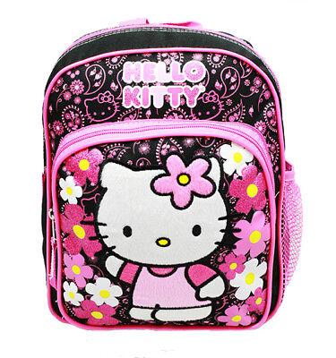 Hello Kitty Flower Mini Small Backpack/School & Book Bag for Kids Girls