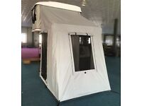 Roof box hard shell tent complete with awning house