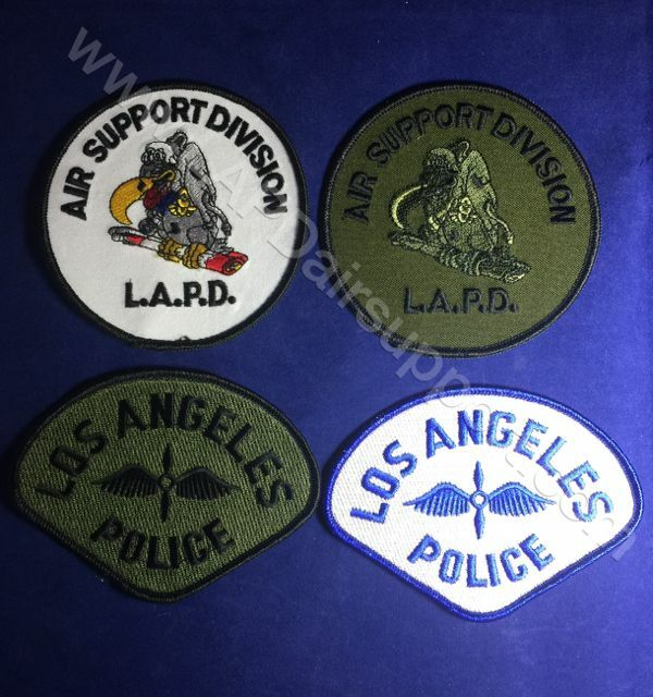 LAPD LOS ANGELES POLICE Air Support Division Official Logos Set of 4 - NEW!!