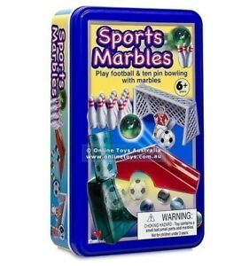 Brand new Sports Marbles in sealed tin box for ages 6+ for Sale
